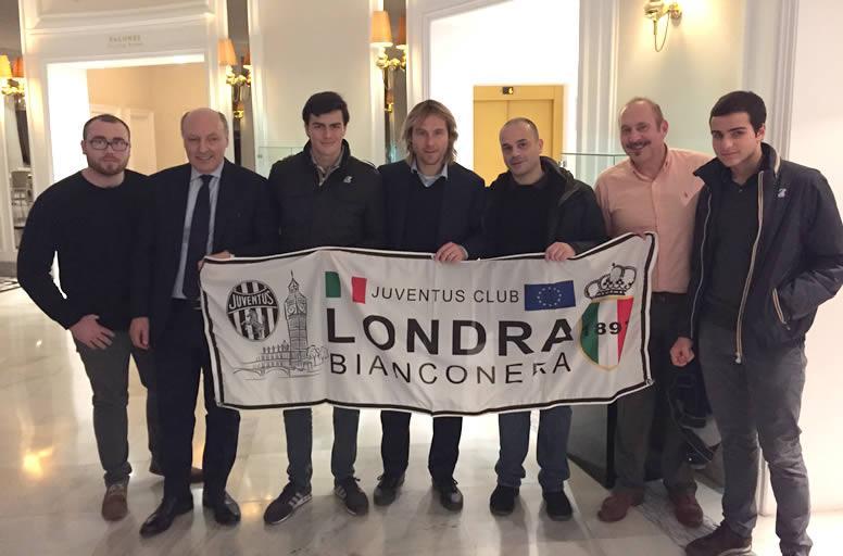Alcuni soci del Club con Beppe Marotta e Pavel Nedved - Siviglia, Dicembre 2015